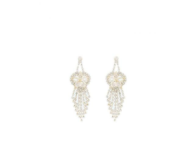 Golden Gold Plated Zirconia Earrings