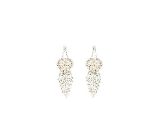 Golden Gold Plated Zirconia Earrings