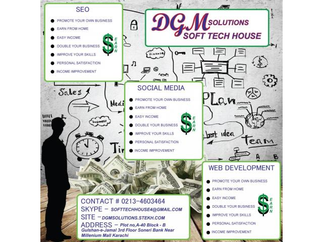 SEO, Web Development and Social Media Training with Earning Income