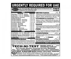 Job Interview in Karachi for UAE