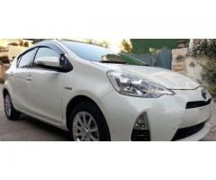 Toyota Aqua, S, Push Start, Multimedia, Cruise, Pearl White, 2014.