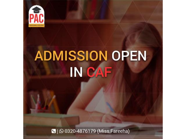 CAF Admission Open in PAC