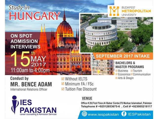 FREE On-Spot Admission In Hungary