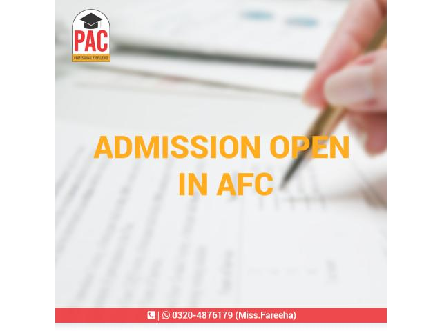 PAC Offering AFC in Pakistan