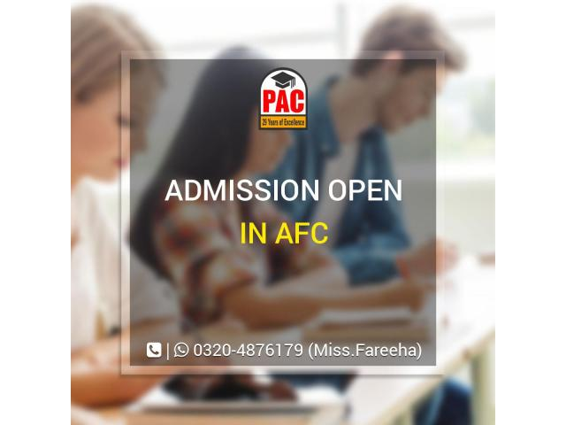 PAC started AFC courses in Pakistan