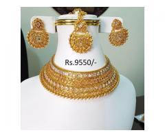 Indian Polki Kundan Bridal Choker for sale