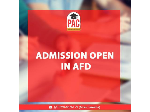 AFD course started in PAC Pakistan