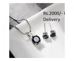 Silver Plated Zircon Set for sale