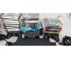 Playstation 3 (plus 30 games) for sale in good price if you see the market