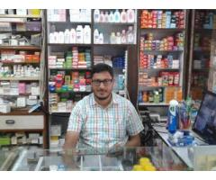 Shopkeeper required for Medical Store with handsome salary