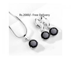 Silver Plated Zircon Set for sale in good price package