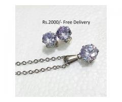Silver Plated Zircon Set FOR sale in good price