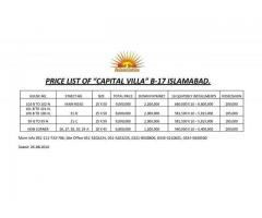CAPITAL VILLAS Sector B 17 Islamabad:Double Storey Houses installments