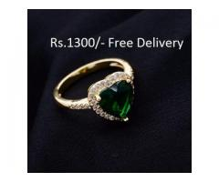 Gold Plated Heart Ring (GPHR-002) FOR SALE IN GOOD RPICE ON THIS EID
