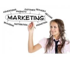 Females required for marketing work with handsome salary