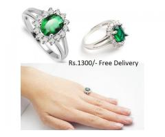 White Gold Plated Ring (WGP-006) FOR SALE IN GOOD RPICE ON THIS EID