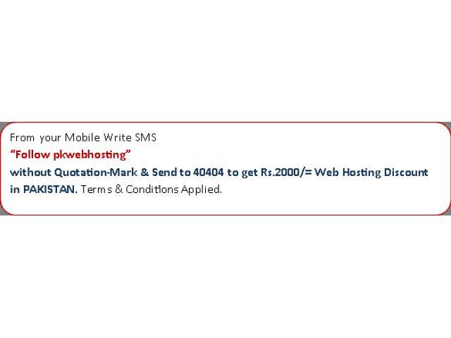 Get Guaranteed Web Hosting Discount in PAKISTAN