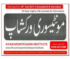 20 Days Montessori teacher training Workshop