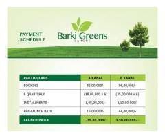 Barki Greens Lahore:  Farmhouse Land on easy installments