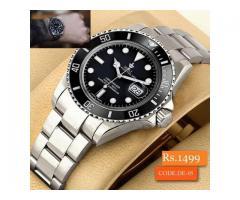 DE:05 Silver Chain Black Dial Men's Watch For sale in good price on Eid