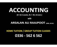 Financial, Cost & Management Accounting with ARSALAN RAAJPOOT