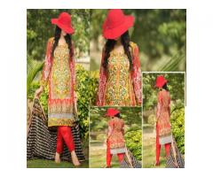 Buhatala MULTICOLOR EMBROIDERY 3PC SUMMER LAWN