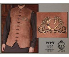 Waistcoat WC-141: Shalwar Kameez unique for sale in good price Special EID Offer