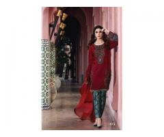MARIA B LAWN EMBROIDERY 3PC DRESS WITH FULLY EMBROIDERED