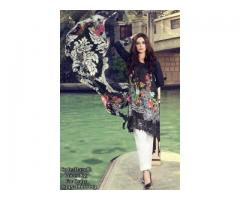 Embroidered Lawn Dress. Printed Chiffon Dupatta.for wedding Season