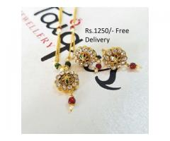 Gold Plated Indian Pendant (IPC-008) for wedding season