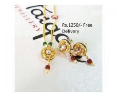 Gold Plated Indian Pendant (IPC-006) for wedding season