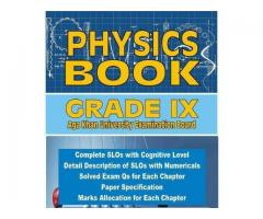 Physics Books based on Aga Khan Syllabus SLOs are Available