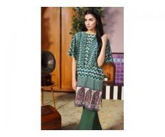 Khaadi Lawn GREEN Unstitched Suit