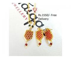 Gold Plated Indian Pendant (IPC-003) for wedding season