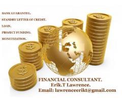 Lease/Sale: Bank Guarantee/SBLC,Financing,Loan,Monetization,MT103,MT799.