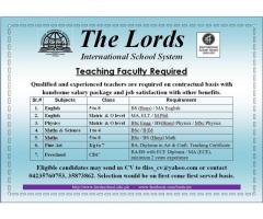Teachers Required at International School