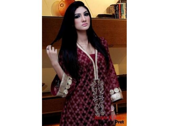 Maira khan Top With Hand Work 3 Piece