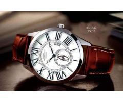 CV 32 White Dial Brown Strap Wrist Watch FOR SALE