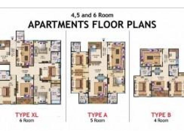 Sale 6 Rooms Apartment in ASF Towers Karachi IN very good amount