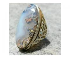 Moss Agate shajri aqeeq 100% natural Original ring long for sale in good amount