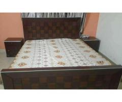 2 months used Double bed set FOR sale in good amount if you want