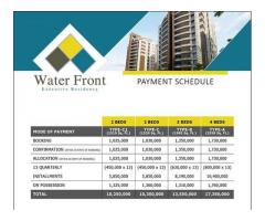 Payment Plan Water Front Executive Residency Islamabad: Flats on installments