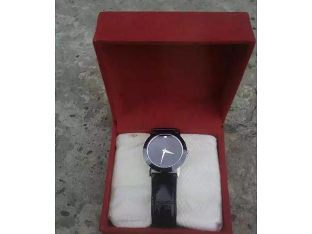 Swiss Movado quartz 1881 watch in black colour FOR sale