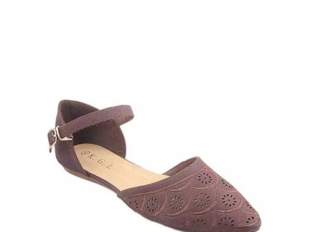 Coffee Imported Leather Fashion Sandal for Women - G14