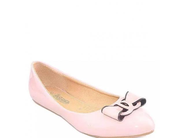 Pink Imported Leather Fancy Pumps For Women - J25 for sale
