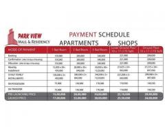 Park View Mall and Residency Islamabad:Shops flats on easy onstallments