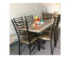 6 Chair With Dining For Sale In Good Amount Karachi