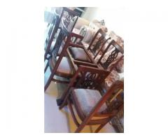 6 chair with dining for sale in good amount