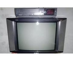 Tv Sony and VCR with recording for sale in good amount