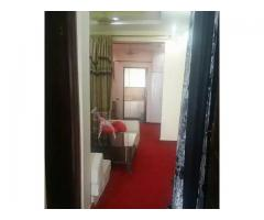 Flat fully furnished with solar system for sale in good amount